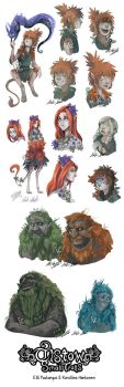 Small Trolls concept art - Actual trolls by ElliPuukangas