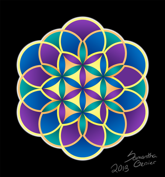Flowers of Life - First Mandala by Saknika