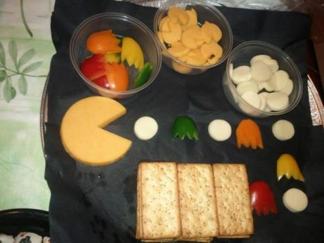 Pacman cheese tray by didi510