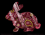 Stained Glass Rabbit by ErinPtah