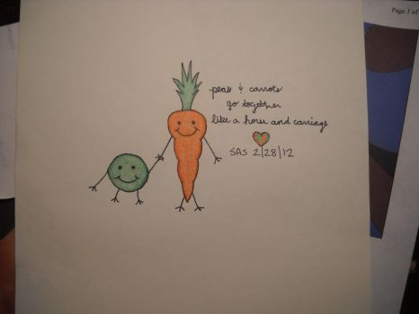 Peas and Carrots by haunted72194