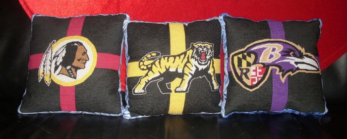 Embroidered Pillows - NFL and CFL by EmpyP
