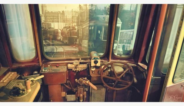 Old tram driver control by Pajunen