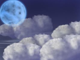Moon and Clouds by Harper123