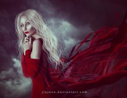 Sheets and Lights Red by jiajenn