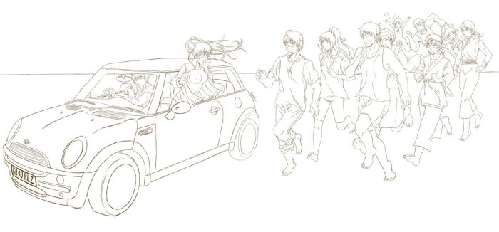 Chariots of fire (Lineart) by RizafromKeron
