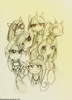 Who's Who of New Ponyville by FoxInShadow