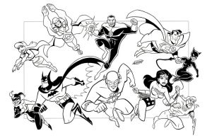 Justice League + 2 Commission by LostonWallace