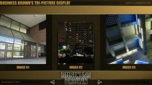 Business Brown - PowerPoint Template (Tri-Display) by CauseThought
