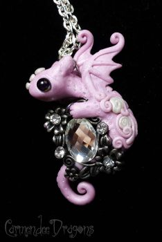 little pink baby bling dragon by carmendee