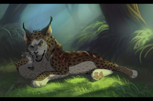 Kyorsak the lynx leader by Astarcis