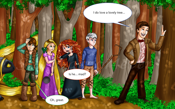 Dragons Rise In The Brave Tangled Tardis REDRAWN!! by Starwarrior4ever