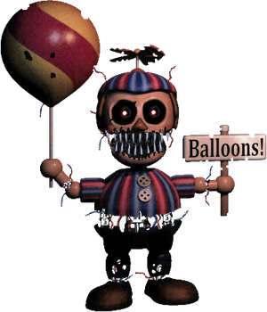 FNAF 4-Nightmare BB-Transparent Background version by Michael-V
