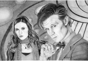 The Doctor and Amy by Jellyneau