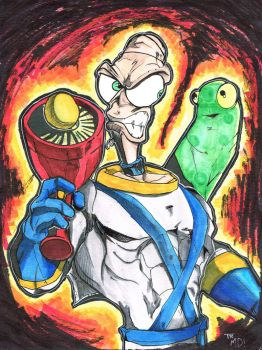 Earthworm Jim - Colors by MartinDunn