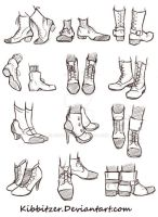 Shoes Reference Sheet by Kibbitzer