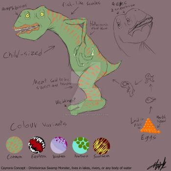 Monstrous Frog concept - Caynora by MarkTheDark