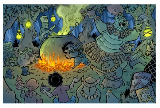 Life is a party - the treasure hunters pg 10 by travisJhanson