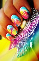 colorful nails by N2nnnu