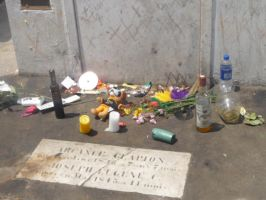 Offerings for Marie Laveau by Gothicpyre