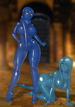 Patreon Commission - X-Slime by LexiKimble