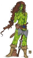 Crusker the Barbarian Coloured by Demorta