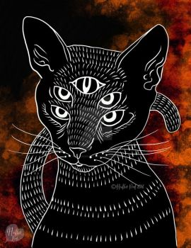 The Mystics Cat by HeatherRoot
