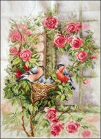 Little birds with roses by 7delsiete