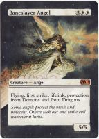 MTG Altered Art: Baneslayer Angel by LXu777