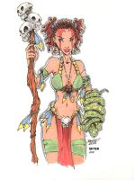 Jungle Girl By Rantz Colored by Dseter