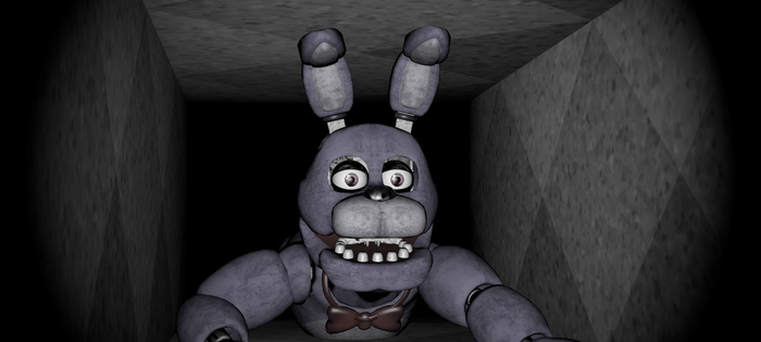 Bonnie in vent (FNaF 1) by Toasted912