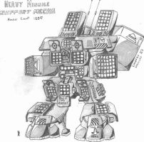 Heavy Missile Support Mech by CamCo