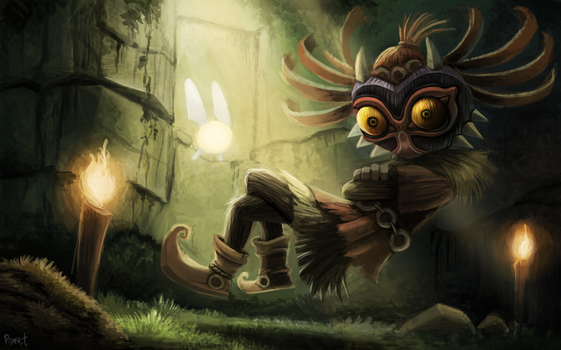 DAY 205. Skull Kid (WIP PART 2) (3 Hrs 20 Minutes) by Cryptid-Creations