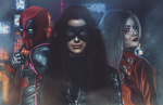 Deadpool, Black Canary and Harley Quinn by EnterDiamond