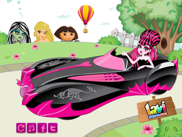 Draculaura Monster-mobile by Lavigames