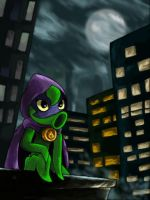Green Shadow watching the city by diegomanzx1