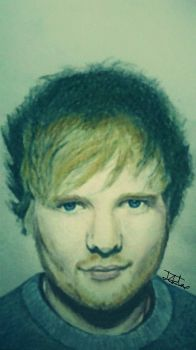 Ed Sheeran Drawing Colour by ZeddiXTree