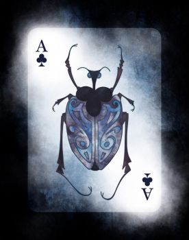 Beetle Royale: Poker Deck Ace of Clubs by atomantic