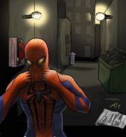 Amazing Spider-man Alleyway by rorschach-mentality