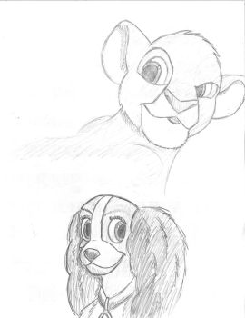 Simba and Lady by Popprocks