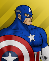 Captain America by hermit-homeboy