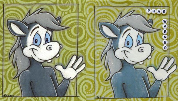 Phar Warner Fabric Badge by kazzycaboodles