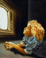 Glued to the TV by hank1