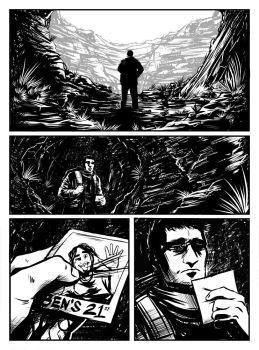 Horror Comic Page 1 Inks by Fishmas