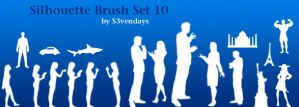 Silhouette Brush Set 10 by s3vendays