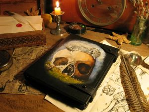 Leather Notebook Vanitas by Svetliy-Sudar