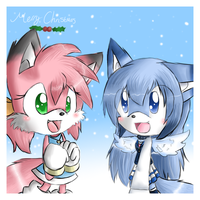 Merry Christmas Ribbon And Ivy by Sancosity-The-Hybrid