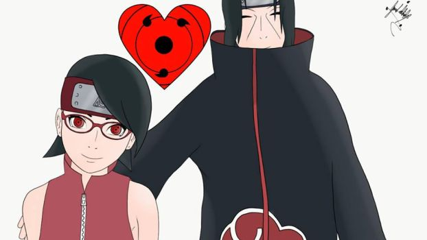 itachi and sarada uchiha by jacobkingww