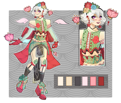 [CLOSED] FLORISTIC VAMPIRE BOY AUCTION by miotess-adopts