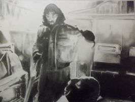 KURT RUSSELL IN JOHN CARPENTER'S THE THING by BUMCHEEKS2
